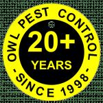 Owl Pest Control logo 20+ years established