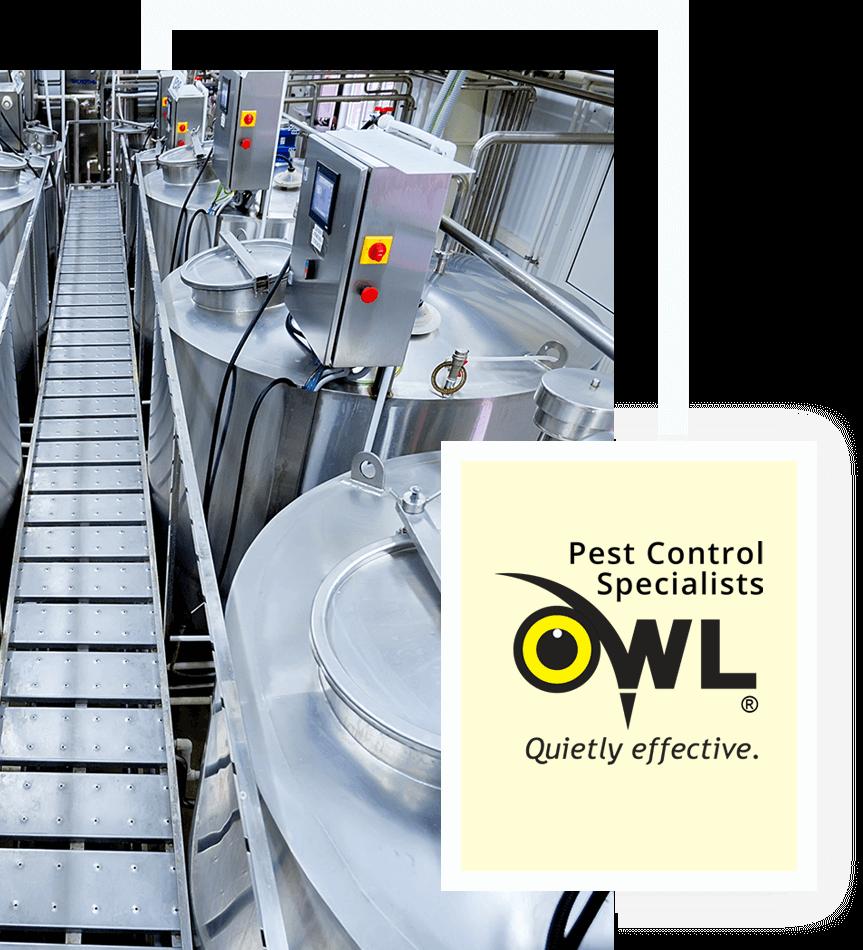 pest-control-food-beverage-processing-Owl Pest control Dublin