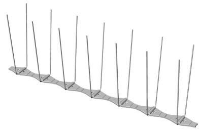 Bird spikes p14 Diagram