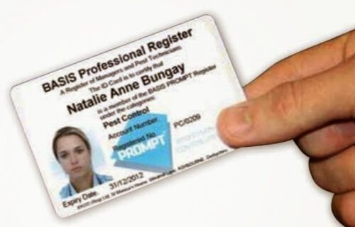 Basis Prompt ID Card Owl Pest Control Dublin