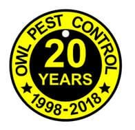 Owl-20th-anniversary logo-Owl Pest Control Ireland