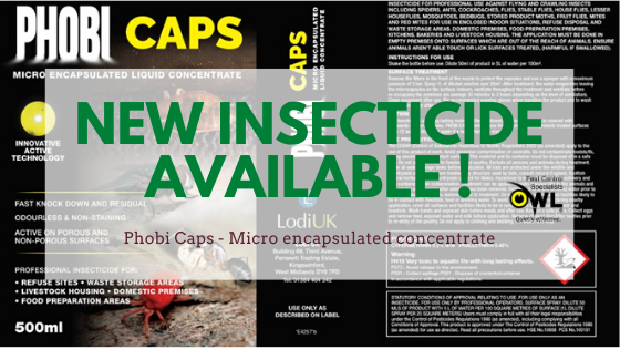 Phobi Caps New Professional Insecticide Registered Owl Pest Control Ireland