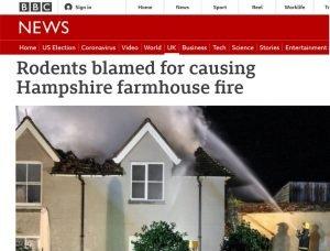 BBC-News-Rodents-blamed-for-causing-Hampshire-farmhouse-fire - Owl pest control Dublin