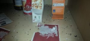 Rodent droppings in food press (Dublin) - Owl pest control Dublin