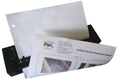 pest-control-service-report-printed-on-site-Owl-Pest-Control-Dublin