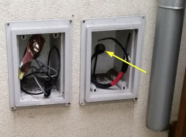 Mice access from cable boxes missing doors - Owl pest control Dublin