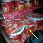 Mice eating noodles and packaging in dry store - food contamination