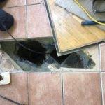 Rat access under kitchen floor - Owl pest control Dublin