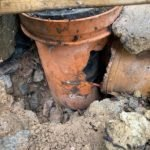 Rat gnawed through sewer pipes - Owl pest control Dublin