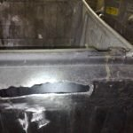 Rats gnawed wheelie bin lid - Owl pest control Dublin