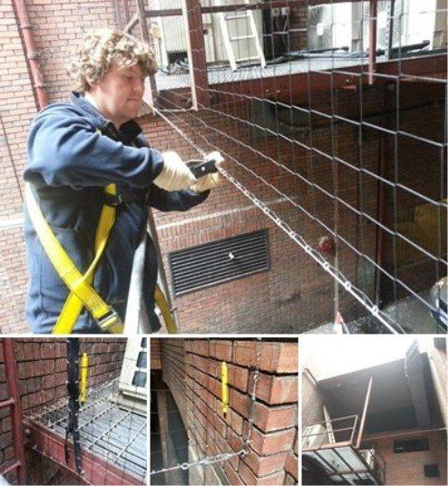 Bird Netting Fitting - Owl Pest Control Dublin