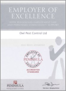 Employer of Excellence Award - Owl Pest Control