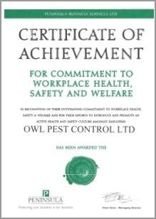 Health & Safety Award - Owl Pest Control